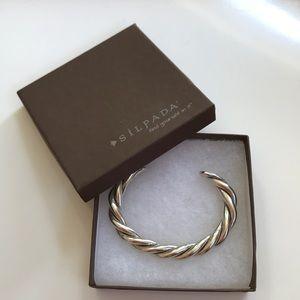 Silpada Twisted Rope Cuff Bracelet